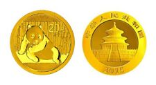 Gold Panda 2015 1/20 OZ Or China Chinese original veschweißt original sealed