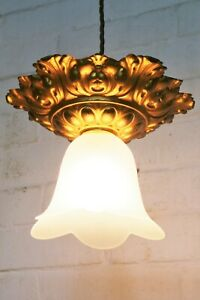 Ceiling Light A Beautiful French Antique Gilt Brass Early Century Period Pendant