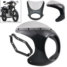 Headlight Fairing Head Lamp Mask Cafe Racer Windshield 7 inch Fit for Harley