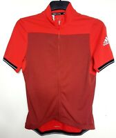 # ADIDAS CLIMACHILL WOMENS CYCLING SPORT JUMPER TOP FULL ZIP RED ORANGE S M L