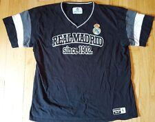REAL MADRID shirt 2XL black jersey XXL football soccer Spain kit futbol
