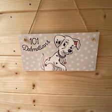 101 Dalmatians Handmade wooden hanging Door Plaque Decoupaged Nursery Decor
