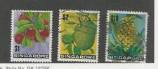 Singapore, Postage Stamp, #198-199, 201 Used, 1973 Fruit, Pineapple