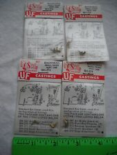 Lot of 4 Cal-Scale BH-374, Backhead Small Quad, Brass Metal Detail, HO Scale