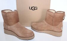 Ugg Australia 1012497 Kristin Women's Sheepskin Wedge Boots Chestnut US 7