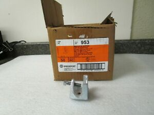 "Qty (63) Bridgeport 953 2"" Beam Clamp Insulator Support"