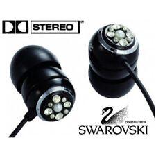 Auriculares con Swarovski Elements Cristal Cristal, Stereo Negros ORB