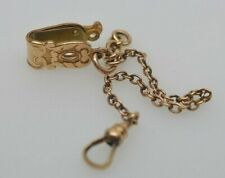 "Chain with Pocket Clip 4"" Gold Plated Watch"