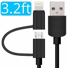 Skiva Duo 2-in-1 USB to Lightning & Micro USB Fast Sync & Charge Cable (CB106)