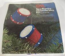 Columbia Minerva Needlepoint Plastic Canvas Toy Drum KIT 1977 NIP 8203 Christmas