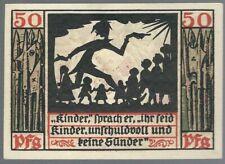 """Notgeld - Naumburg - Stadt Naumburg -  50 Pfennig - 1920 - """"F"""" Rosetten im Text"""