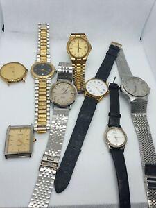 OMEGA De Ville, TISSOT, UNIVERSAL GENEVE, WALTHAM, 8 watches lot , parts