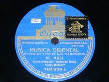 ETHNIC 78 rpm RECORD Odeon BALI / SIAM Musica Oriental GAMELAN GONG Lagu Kebiar
