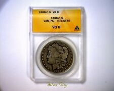 ANACS VG8 R7 HIT LIST 40 VAM 7A 1888O  MORGAN SILVER DOLLAR U.S. COIN 1888 O