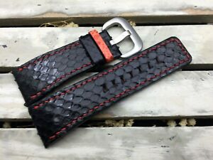 Python leather watch band  for Sevenfriday watch #DT0525