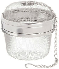 Large Tea and Spice Ball Sphere Ø 7 cm Strainer Chain Locking Mesh Herb Infuser