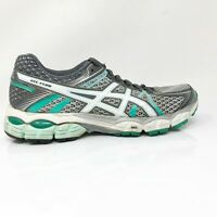 Asics Womens Gel Flux T3D9N Gray Teal Running Shoes Lace Up Low Top Size 8