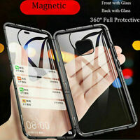 For Huawei P30 Mate 20 Lite Pro Magnetic Frame Screen Protector Glass Case Cover