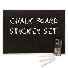 6 Piece Blackboard Notice Teacher Sticker Set With Chalk Wall Children's Kids