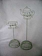 Tea theme Photo recipe Card holder GIFT table setting DECOR wire Art coffee NEW