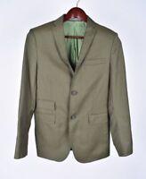 J. Lindeberg Pitillo Lana Verde Claro Hombre Chaqueta Americana Talla EU46R UK36