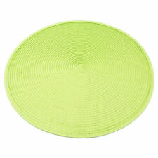 38cm Round Table Mats Jacquard Weaved Non Slip Placemats Dining Special Offer