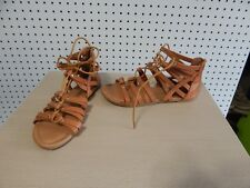 Womens Top Mode gladiator sandals - brown - size 7
