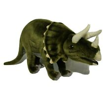 Hansa Triceratops Green Posable Plush Dinosaur Hand Crafted Toy Stuffed Animal