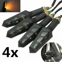 4x 6 LED Universel Clignotant Moto Signal Indicateur Lumineux Ambre eclairage 12