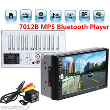 "2 Din 7"" Touchscreen FM Bluetooth Radio Audio Stereo Car Video Player+HD Camera"