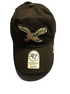 New '47 Brand NFL Philadelphia Eagles Women's Hat Old School Black/Green Color