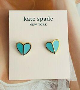 Kate Spade New York Small Heart Stud Earrings Flamingo blue
