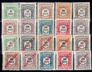 MOZAMBIQUE PORTUGAL POSTAGE DUE STAMP J 1/20 MH AND MNH