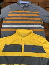 2 x Nike Golf Polo Shirts Size Medium Tour Lightweight Dri-Fit Good Condition