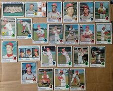 1973 Topps St.Louis Cardinals partial team set- Brock/Gibson/Simmons