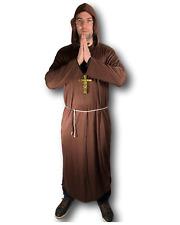 Adult Men's Monk Costume Friar Tuck Medieval Brother Priest Fancy Dress Stag