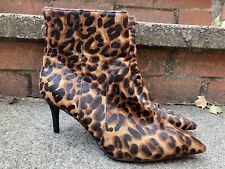 """Estampado de Leopardo Piel Stiletto Tobillo Botas UK6 """"siguiente"""" Nuevo"""