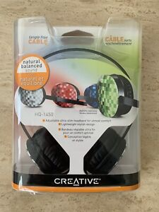 Creative HQ-1450 Headband Headphones - Black.  BRAND NEW