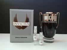 Paco Rabanne Invictus EDT For Men 2ML/5ML Glass Sample Spray 100% Authentic!