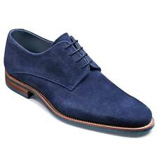 Handmade Men's Genuine Blue Suede Derby Lace Up Dress, Formal Shoes