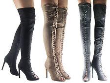 Zip Suede Slim Heel Casual Shoes for Women