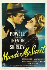 MURDER MY SWEET MOVIE POSTER Dick Powell RARE VINTAGE