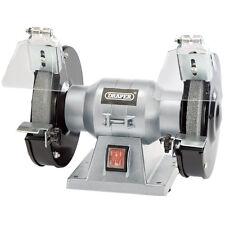 """DRAPER 150mm 6"""" Workshop Bench Grinder Twin Grinding Stones 150w 240v 83420"""