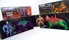 MOTU, Commemorative Battle Cat & He-Man, Mint, Skeletor & Panthor, with box, MIB
