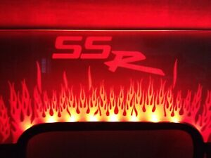 Chevrolet SSR Custom Laser-Etched Lit Acrylic Windsupressr,Windscreen🇺🇸🇺🇸