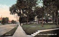 Amsterdam New York~Steps to Neighbors Home on Guy Park Avenue c1908