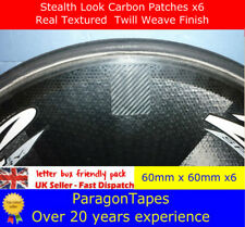 6x CARBON FIBRE Time Trial DISC WHEEL Valve Patches TT Triathlon aero tri track