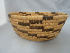 "Native American Weave Basket PAPAGO   BOWL  Approx 3.5"" x 9""."