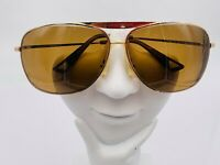 Vintage Linea Roma LR330 C4 Gold Metal Oversized Aviator Sunglasses FRAMES ONLY