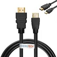 3M JVC DIGITAL CAMERA    GZ-E305S MINI HDMI CABLE LEAD HD DISPLAY